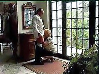 Clothed Older Blowjob Boobs Granny Cock