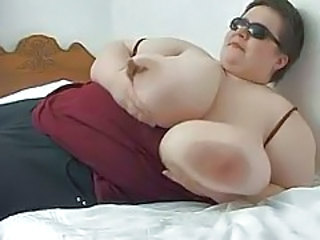 BBW gropes her enormous big tits tubes