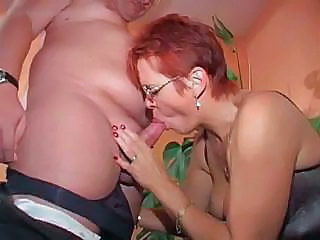Small Cock Redhead Blowjob Granny Cock Granny Stockings Small Cock