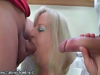 Family Threesome Old And Young Big Cock Blowjob Blowjob Big Cock Drunk Party