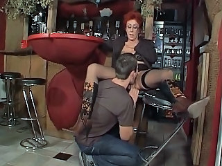 Redhead Licking Clothed German German Granny German Mom
