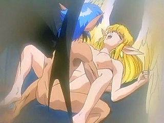 Big titted blonde anime Angel fucked hard