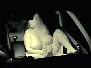 BBW Big Tits Car
