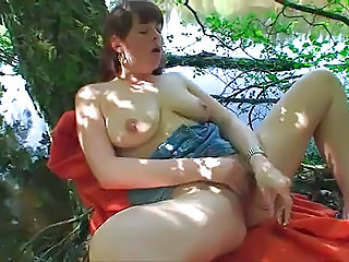 Masturbating Natural Outdoor