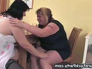 Dirty fat woman and her horny mature