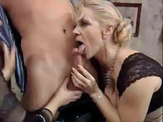 German Threesome Mature Blowjob Mature European German