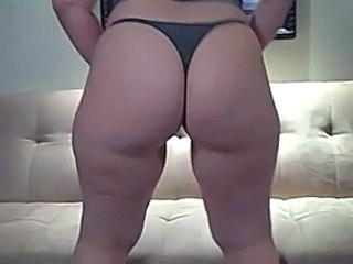 Big Butt in Grey Thong