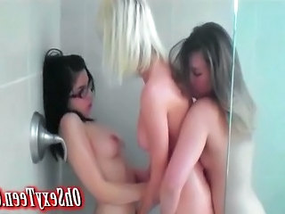three hot babes in the shower