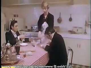 Kitchen Threesome Vintage Threesome Babe