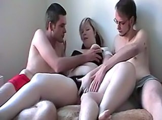 Chubby Teen Threesome