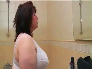 Bathroom BBW Lingerie Bathroom Boyfriend Fingering