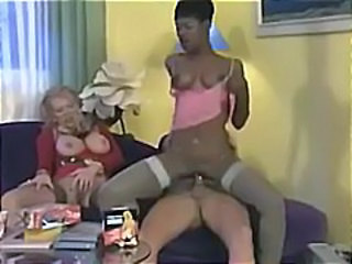 Coco Brown and her next door neighbor granny get hammered in a threesome