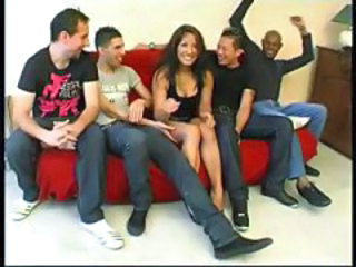 Gang bang brunette arabian
