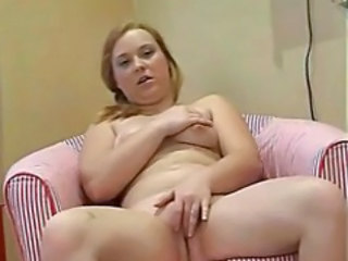 Chubby RedHead Ex Girlfriend Playing With Pink Vibrator