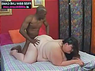 SSBBW Doggystyle Interracial