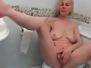 Toilet Masturbating Saggytits
