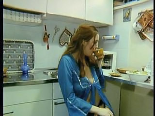 German Kitchen Redhead European German German Milf