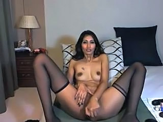 Indian Masturbating MILF Milf Stockings Stockings