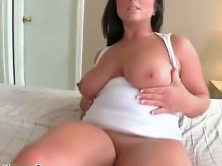 Huge natural tits girl sucking big dick