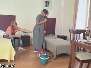 Maid Mom Old And Young Blowjob Mature Maid + Mature Mature Blowjob