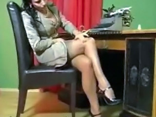 Solo Retro Secretary In Her Office