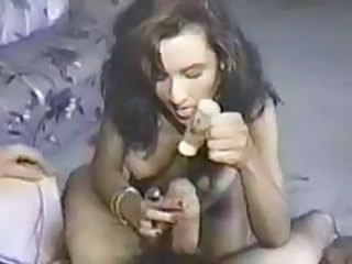 Good looking big tits brunette jerks him off tubes