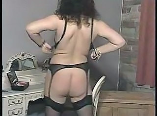 British slut Gilly plays with herself in various scenes
