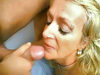 Piercing Blonde Blowjob Granny Blonde
