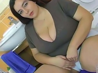 Cute Bathroom Big Tits Bathroom Bathroom Tits Bbw Milf