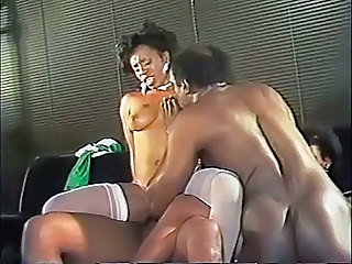 Ebony Vintage Groupsex Stockings