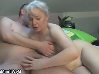 Hot granny want to fuck with son in law