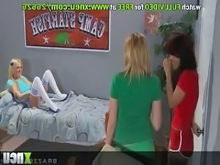 Sexy Lesbian Teens Strip From Their Uniforms And Socks To Have A 4some free