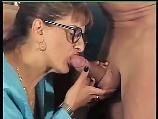 Anal Milf in Fishnet Stockings Cum on Glasses