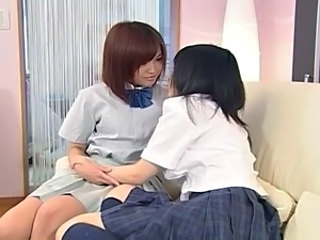 two young japanese lesbians make love 1