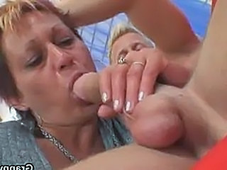 Granny rides neighbour's big cock