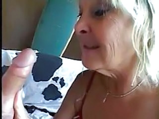 Blonde mature gives hairy guy a blowjob tubes