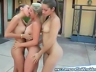 Roommates Get Naked And Make out By Pool