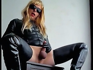 Rubber crossdress sex