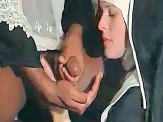 Nun Cumshot Interracial