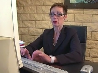 Secretary Office Mature Glasses Mature Mature Ass