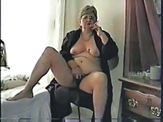 Nasty Granny Smoking And Masturbating