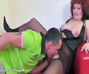 Mommy has great big boobs as she bends part6
