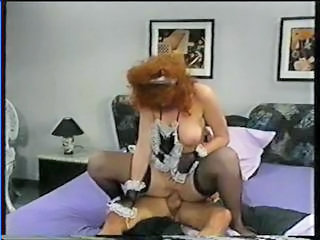 Redhead Maid Pornstar Stockings