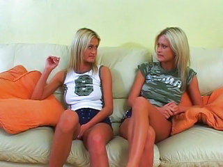 Horny twins waiting for a cock