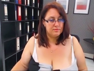 Office Webcam Secretary Bbw Mature Glasses Mature Mature Ass
