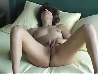 Brunette Wife Masturbating Blindfolded