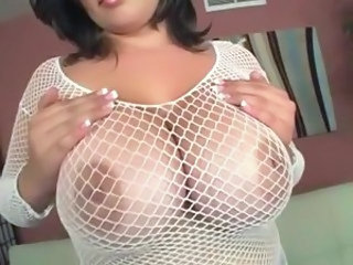 BBW Big Tits Fishnet
