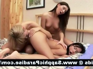 Amazing bruentte lesbians wipe the floor with and..