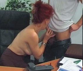 Office Secretary Redhead Blowjob Mature Mature Blowjob Old And Young