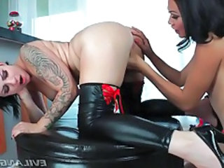 Video from: tubewolf | Huge tattoo on back of hot girl fucking shemale tubes